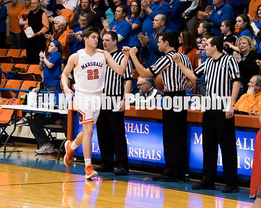 2017 - 2018 Marshall County Boys Basketball vs Livingston County.