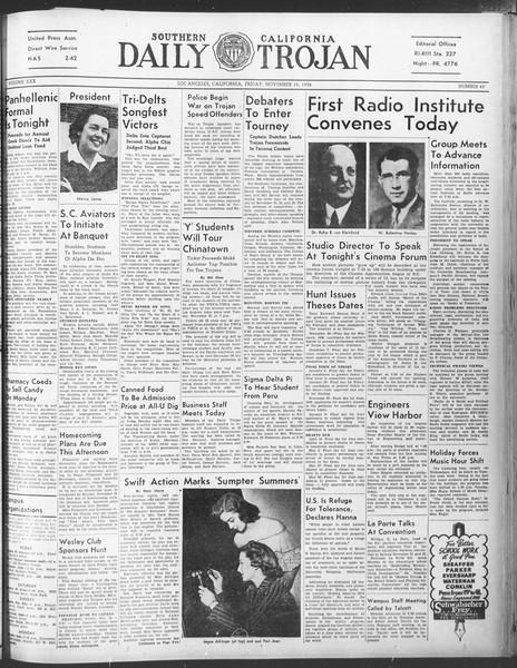 Daily Trojan, Vol. 30, No. 44, November 18, 1938