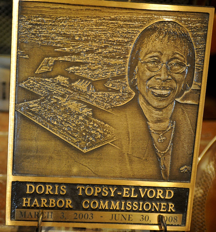 . Doris Topsy-Elvord, first African-American woman on the Long Beach City Council and co-founder of the African-American Heritage Society of Long Beach, was inspired by the words of Rev. Martin Luther King Jr. to stop talking and start doing. After serving on the City Council Doris became Harbor Commissioner of the Port of Long Beach. (Photo by Sean Hiller/ Press Telegram/ LANG) 08-21-2013
