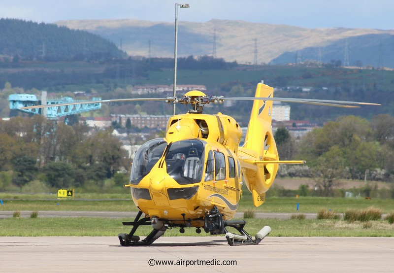 G-SASS EC145 Scottish Air Ambulance @ Glasgow Airport (EGPF)