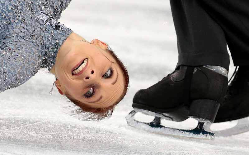 . Maylin Wende and Daniel Wende of Germany compete in the team pairs short program figure skating competition at the Iceberg Skating Palace during the 2014 Winter Olympics, Thursday, Feb. 6, 2014, in Sochi, Russia. (AP Photo/Ivan Sekretarev)