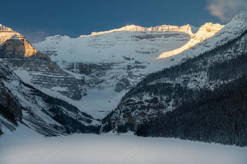 Sunrise on Upper Victoria Glacier and Plain of Six Glaciers