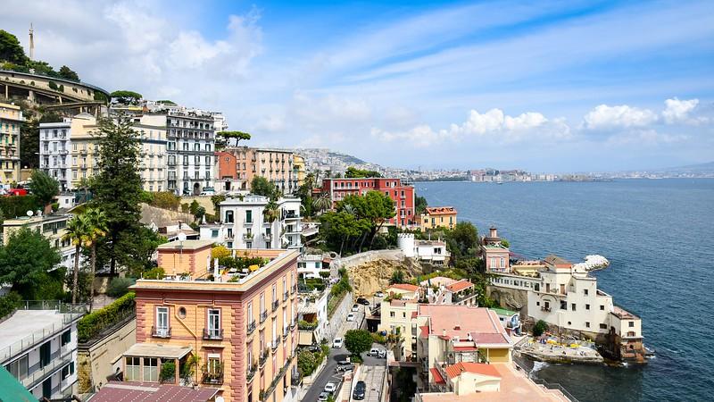 Naples coastline, Italy