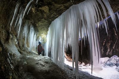 Frozen waterfall Pericnik