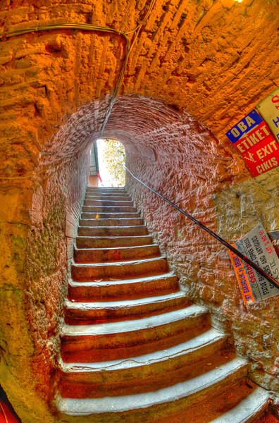Stairs in the Grand Bazaar, Istanbul, Turkey