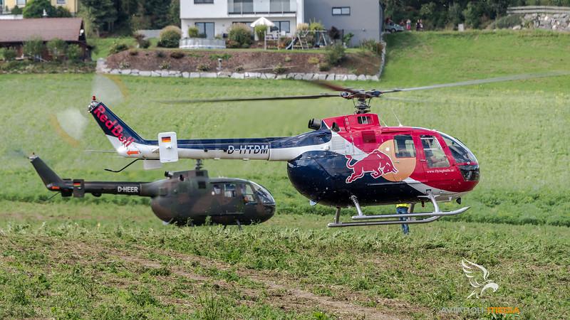 Flying Bulls & Private / MBB Bo105C & MBB Bo-105 / D-HTDM & SP-YXE