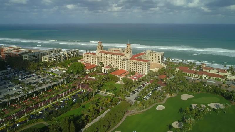 Aerial orbit The Breakers West Palm Beach