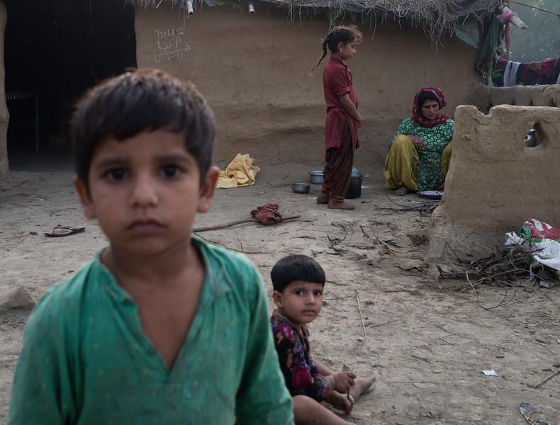 At a village near the India-Pakistan border
