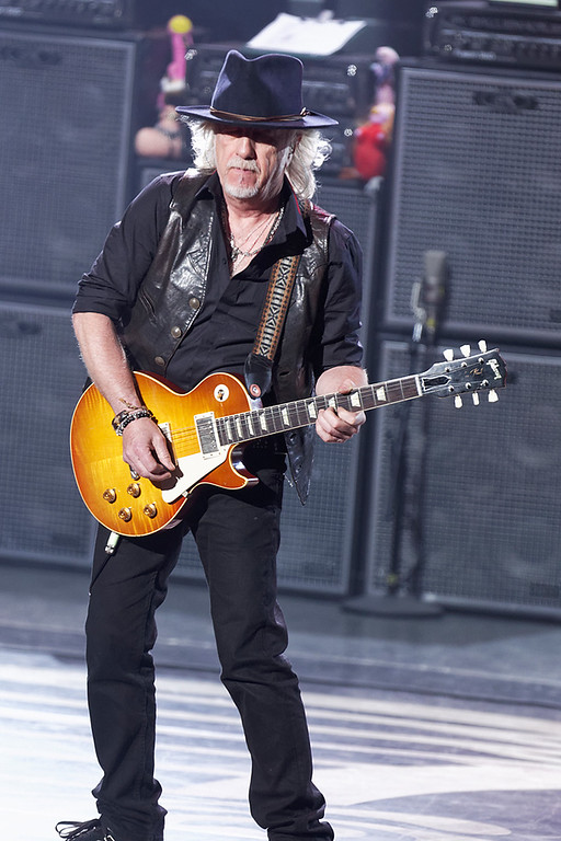 . Brad Whitford of Aerosmith performs on Tuesday, Sept. 9, 2014, at DTE Energy Music Theatre in Independence Township. Photo by Ken Settle