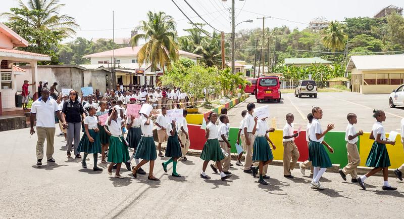 School parade at Sauteurs