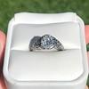 1.11ct Old European Cut Diamond Filigree Ring 34