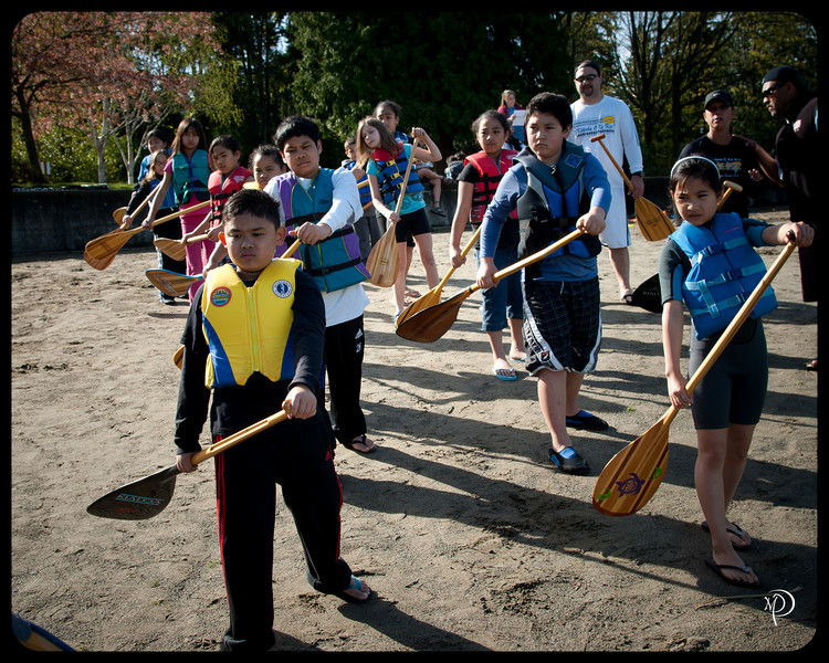 Kīkaha O Ke Kai Outrigger Canoe Club, Keiki (youth) practice, Steel Lake, Federal Way, 2010
