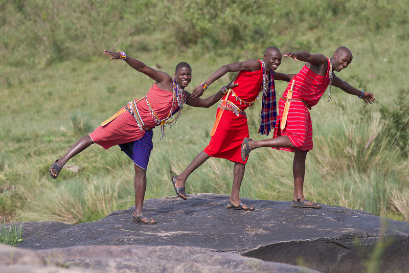 Our Maasai guides in The Mara, Risa, Sammy and Martin.