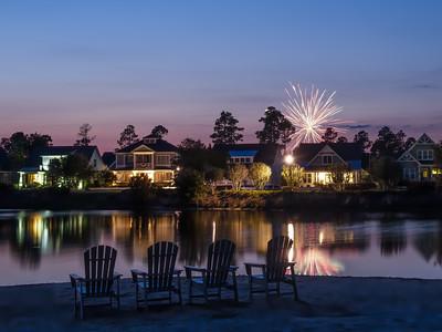 Hammock Lake with Fireworks