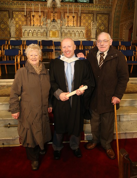 Pictured is Ray Kelly, Tramore who graduated Bachelor of Science in Good Manufacturing Practice and Technology with his parents John and Mary. Picture: Patrick Browne.