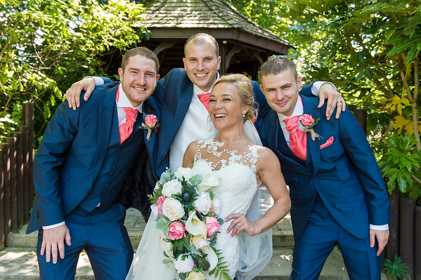 Rebecca & Lewis at the  Fairlawns hotel Walsall