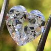 3.47ct Antique Heart Shaped Diamond GIA F SI2 13