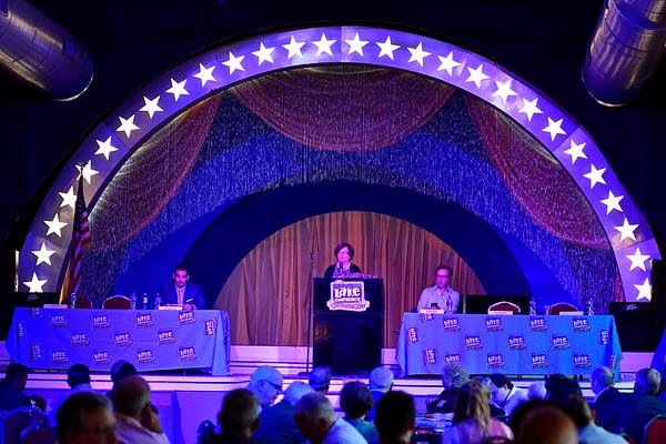 9/6/2019 Mike Orazzi   StaffrBristol Mayor Ellen Zoppo_Sassu during the 138th Annual Crocodile Club Dinner at Lake Compounce on Friday.