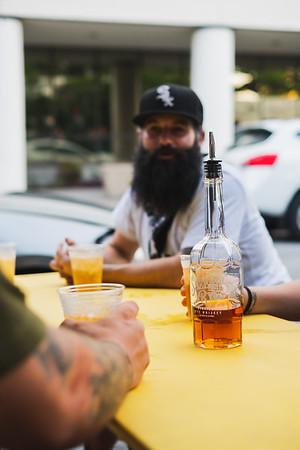 Outdoor Ginger+Rye drinks