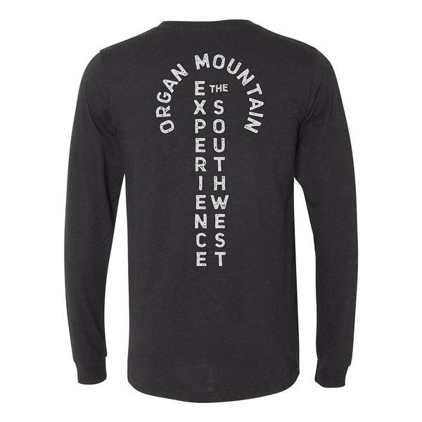 Organ Mountain Outfitters - Outdoor Apparel - Mens T-Shirt - EXSW Adventure Long Sleeve Tee - Black Heather Back.jpg