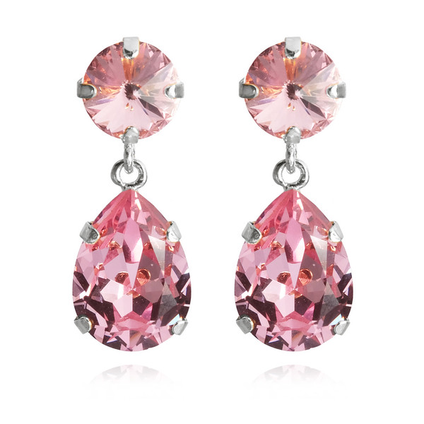 Classic Drop Earrings / Light Rose Rhodium