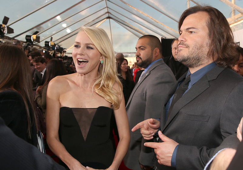. Actors Naomi Watts and Jack Black attend the 18th Annual Critics\' Choice Movie Awards held at Barker Hangar on January 10, 2013 in Santa Monica, California.  (Photo by Christopher Polk/Getty Images for BFCA)