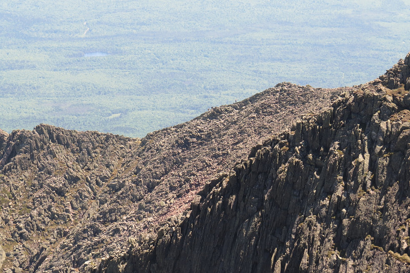 Hikers on what appears to be a decent section of the Knife Edge.JPG