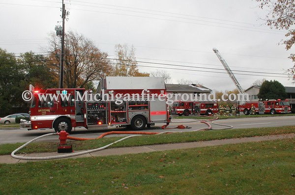 11/3/16 - Meridian Twp fire in an apartment building, 5906 Marsh Rd