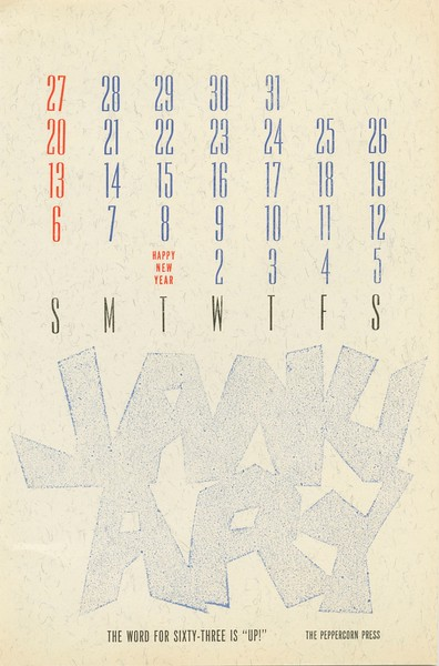 January, 1963, Peppercorn Press