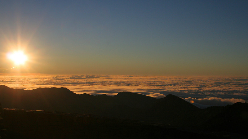 Sunrise from Haleakala Crater on Maui, Hawaii.