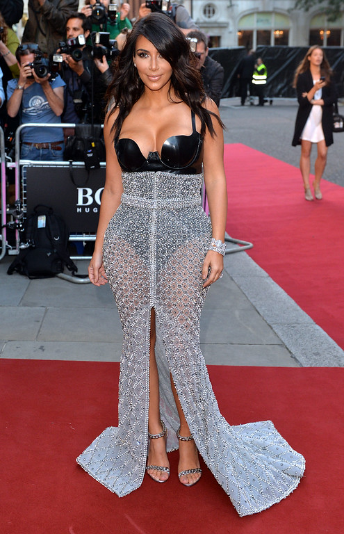 . Kim Kardashian attends the GQ Men of the Year awards at The Royal Opera House on September 2, 2014 in London, England.  (Photo by Anthony Harvey/Getty Images)