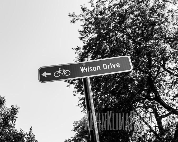 Wilson Drive Bike Sign
