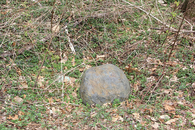 Mysterious Rock in Crater, Woods, Dutch Hill (4-24-2013)