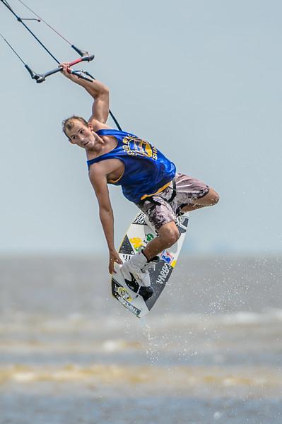 Kite Surfing near Sanibel Bridge 9/9/2012