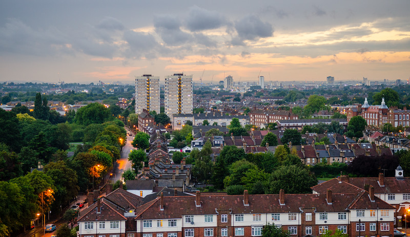 Tooting cityscape