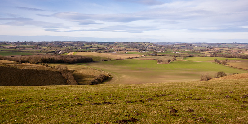 Vale of Wardour from Win Green