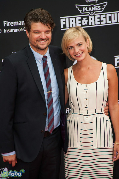 HOLLYWOOD, CA - JULY 15: Actor Matt L. Jones and wife Kelly Daly attend the premiere of Disney's 'Planes: Fire & Rescue' at the El Capitan Theatre on Tuesday July 15, 2014 in Hollywood, California. (Photo by Tom Sorensen/Moovieboy Pictures)