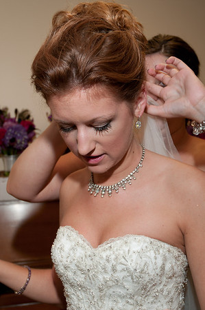 getting ready on wedding day