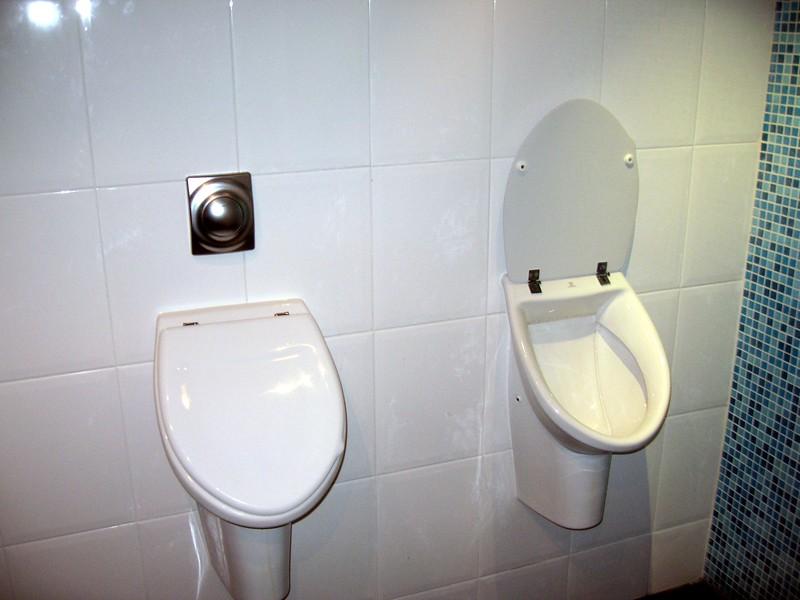Why do these urinals in Scheveningen have lids?