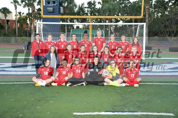 Girls JV Soccer 11-27-18