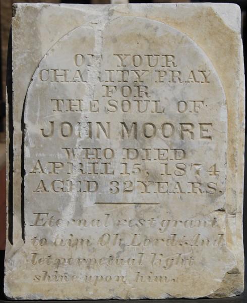 1874, John Moore Tombstone