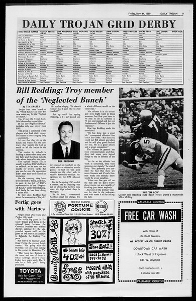 Daily Trojan, Vol. 61, No. 44, November 14, 1969