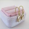 .95ctw Pear Shape Rose Cut Diamond Drop Earrings 4
