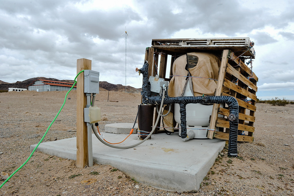 . A groundwater well sits on the Bank family\'s 10-acre property in Hinkley, Calif. on Thursday, March 7, 2013. PG&E checks residents\' well water readings several times a year. (Rachel Luna / San Bernardino Sun)