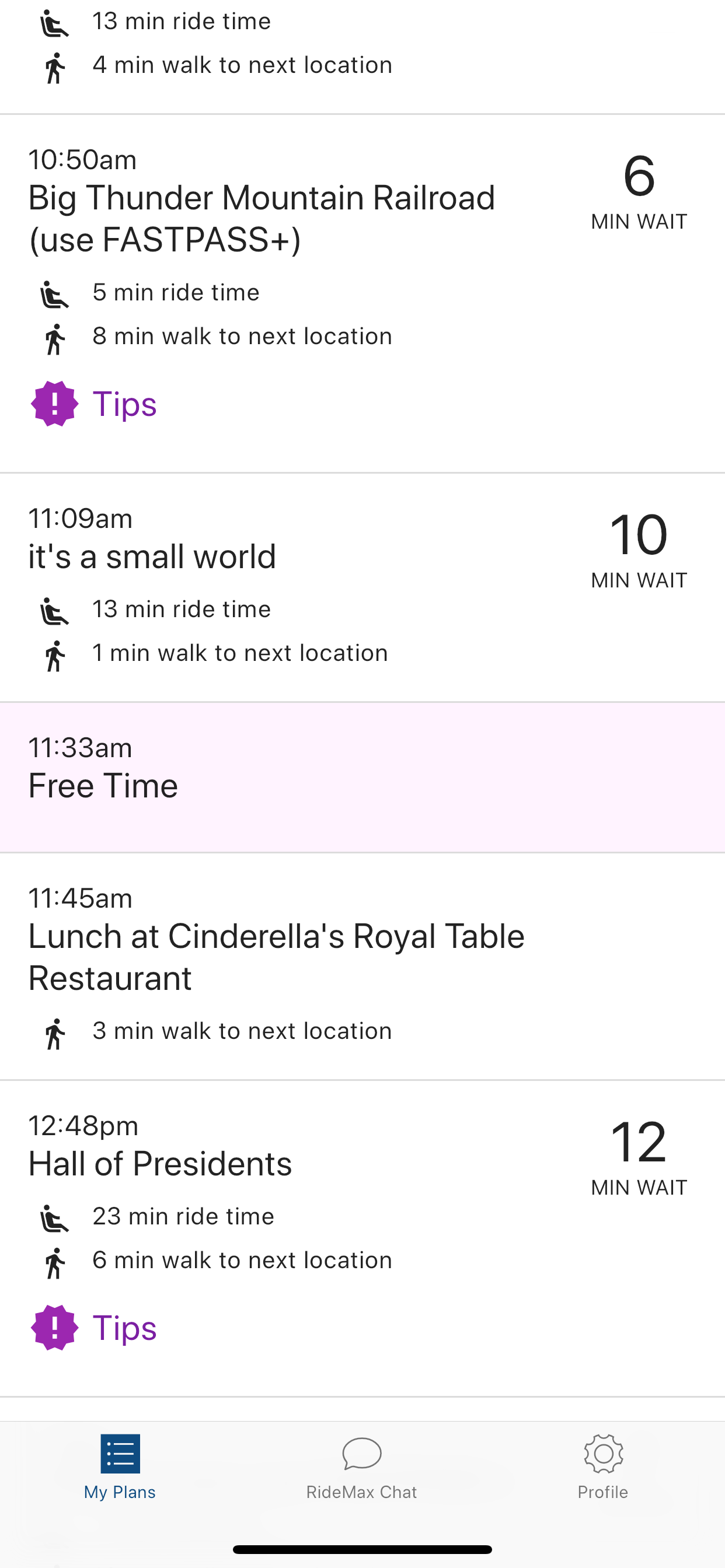 RideMax App - Plan Details