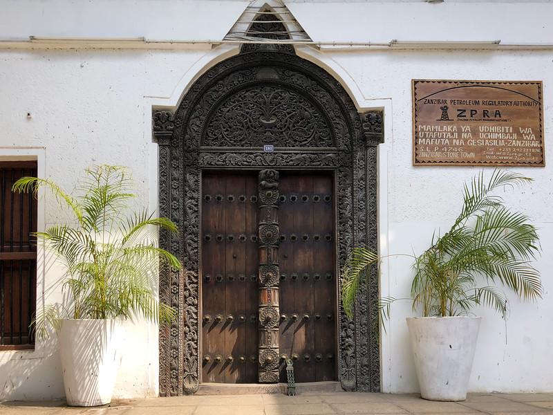 Carved door in Stone Town