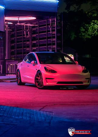 2018 Tesla Model 3 Performance Vossen HF3 DTPHAN