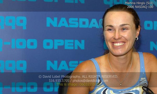 2006 NASDAQ-100 - Martina Hingis (SUI)