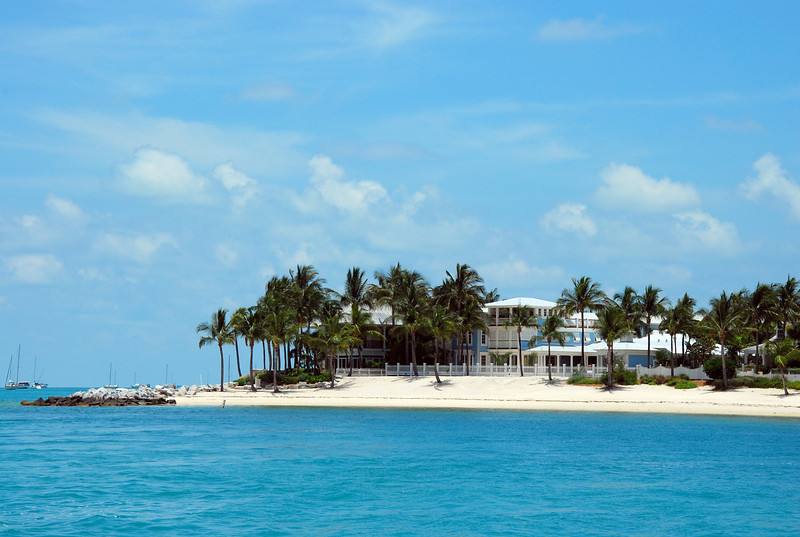 Sunset Key is a private island just 1/4 mile from Key West Harbor and this is a view of their private beach.  No springbreakers here!!