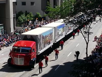 Stampede Parade thru downtown Calgary